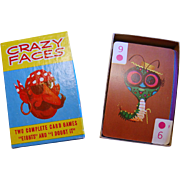SALE 1960s Crazy Faces Card Games w/ Box & Instructions