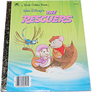 1977 Walt Disney ~ The Rescuers ~ Little Golden Book ~ Mint