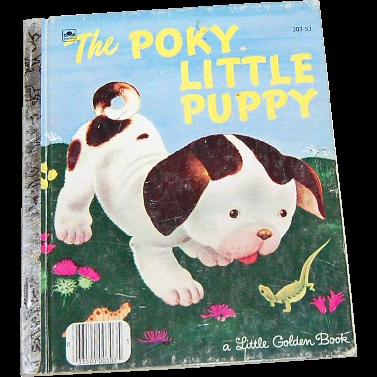 1970 The Poky Little Puppy ~ A Little Golden Book