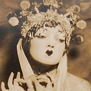 """SOLD 1920s Theatrical Geisha Original Studio Portrait ~ 8.25 X 12.5"""""""