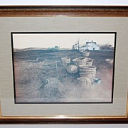 "SALE 1970s Hamilton ~ ""Late October"" Framed Print"