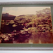 1960s LARGE Original Asian Zen Landscape Photograph ~ Framed