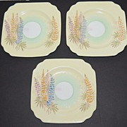 1930s Old Royal China ~ Yellow Floral Saucers ~ Set of 3