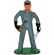1930s Barclay ~ Railroad Mechanic Lead Toy Figurine