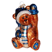 SALE Boyds Bear ~ Large Glass Christmas Ornament