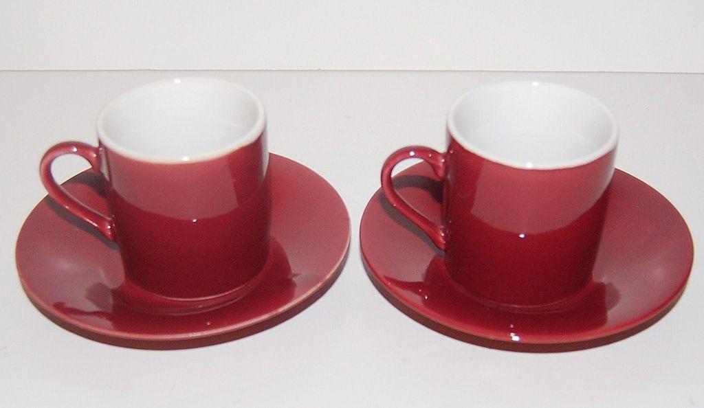 Vintage Japanese Demitasse Cups & Saucers ~ Set of 2