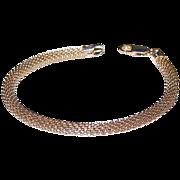 Italian Sterling Silver Snake Mesh Bracelet