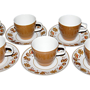 1950s Mikasa ~ Westwood Cera-Stone 14-Pc Cup/Saucer Set