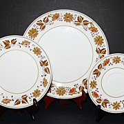 1950s Mikasa ~ Westwood Cera-Stone 3-Pc Plate Set ~ 7 Sets Available
