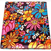 1960s Silver Port ~ Pop Art Floral Fabric Photo Album