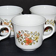 1960/70s Corelle ~ Indian Summer Mugs ~ Set of 7