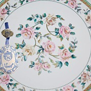 Vintage T. Limoges ~ Rose Serving Platter w/ Original Tag