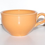 1950s Russel Wright ~ Iroquois ~ Ripe Apricot Ceramic Cup