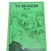 1975-76 TV Season Hardcover Book