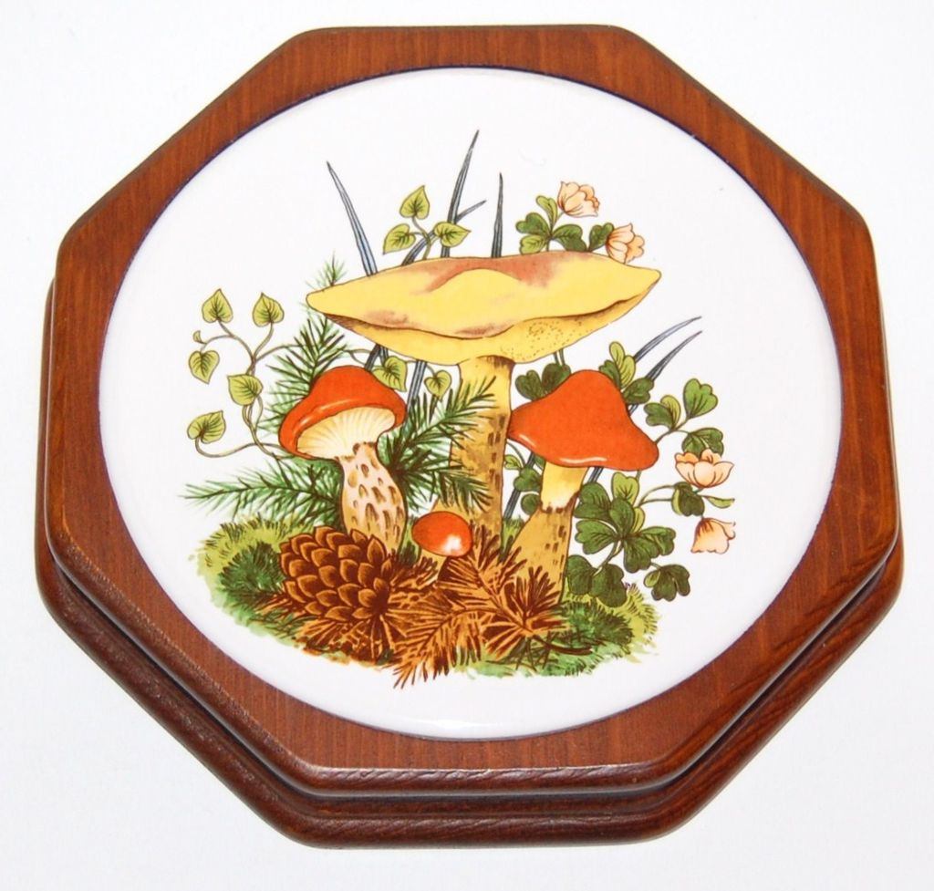 1970s Mushroom Trivet or Wall Decor