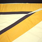 1970s Pequot ~ Mustard & Sunny Yellow Twin Flat Sheet
