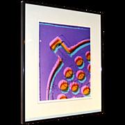 1981 Karen Goldstein ~ Framed 'Floor Drain' Abstract Photo Art