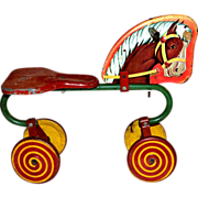 1940s Horse Cycle w/ Lollipop Wheels