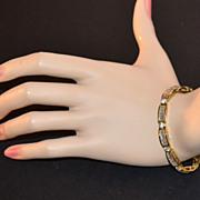 Sterling Silver Vermeil & Cubic Zirconia Baguette Bracelet