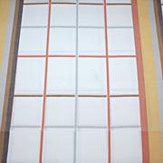 SALE 1970s Wamsutta ~ 3-Pc Striped Double Flat Sheet w/ 2 Pillowcases