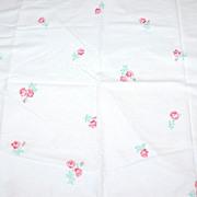 SALE 1960s Fieldcrest ~ Deep Pink Rose Standard Pillowcase