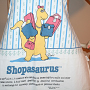 "1986 ""Shopasaurus"" Fabric Kitchen Apron"