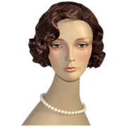 1980s Pouty Brown-Eyed Female Mannequin Bust