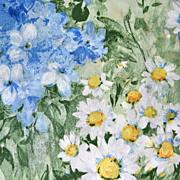1980s Dan River ~ Monet-Inspired Ruffled Pillow Sham