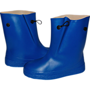 SALE Water-Poofs Child's Royal Blue Rubber Galoshes ~ Never worn!