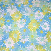 1960s Pequot ~ Pair of Blue & Lime Green King-Size Pillowcases