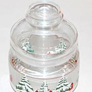 1970s Snowy Tree Christmas Candy Jar