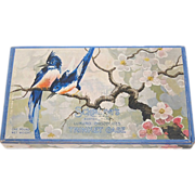 1930s Schrafft's ~ Bluebird & Cherry Blossom Chocolate Box