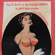 1940/50s Bleumette Push-Up Bra Pads in Original Package