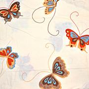 1970s Martex ~ Happy Butterfly Twin Sheet Set