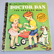 1992 Doctor Dan The Bandage Man Little Golden Book w/ Band-Aid