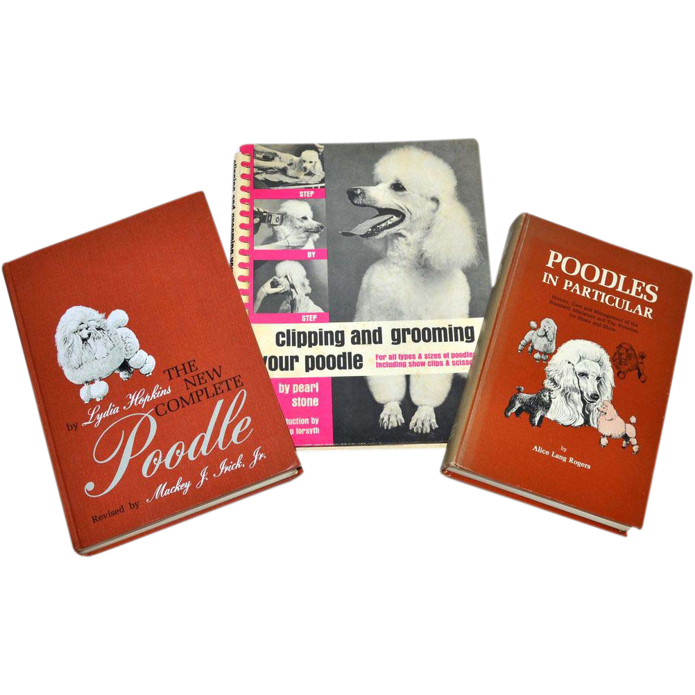 Set of 3 Poodle Pet Care Hardcover Books