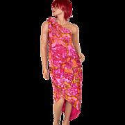 1960s Nikki's ~ Pucci-Inspired Pink Paisley Sarong Dress