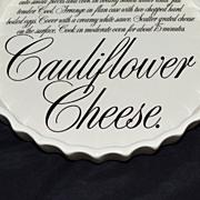 SALE T.G. Green ~ Cauliflower Cheese Torte Pottery Dish