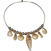 SALE Beach-Inspired Faux Seashell Choker Necklace
