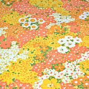 SALE 1960s Penn-Prest ~ Fashion Manor Yellow & Orange Flower Pillowcase