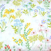 1960/70s Utica ~ Festive Flower No Iron Full Flat Sheet
