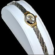 SALE Vanity Fair ~ Diamond Chip Watch w/ Snake Mesh Wristband