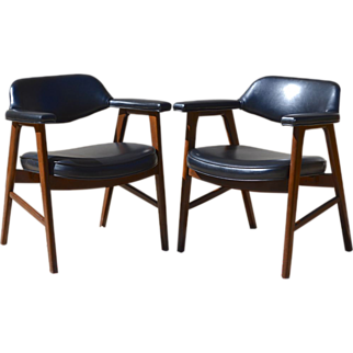 SALE Set of 2 Paoli Mid-Century Danish Modern Chairs, Juhl Chieftain Style, American Made