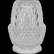 SALE 1960s Indiana Glass Diamond Point Fairy Lamp