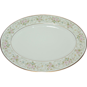 """Noritake Willowbrook Bone China 14""""Oval Serving Platter ~ 2 Available"""