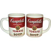 1960s Set of 2 Campbell's Tomato Soup Mugs