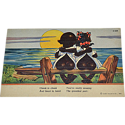 1930s Curteich Chocolate Drops Comics Color Linen Postcard