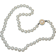 SALE Carolee Signed Classic Simulated White Pearl Bead Necklace