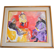 SALE Irving Lehman 20th C Russian-American Artist Original Abstract Expressionist Gouache Pain