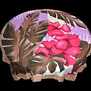 SALE New Old Stock OSCAR DE LA RENTA Red Hibiscus Flower Designer Rayon Scarf w/ Original Tag